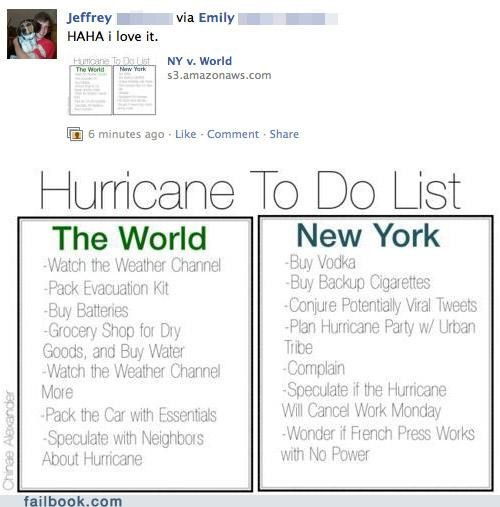 Featured Fail,hurricane,irene,new york,to-do list