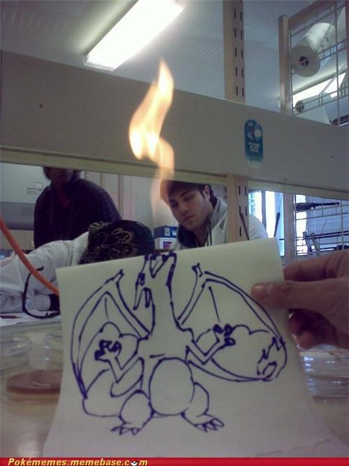 art bunsen burner charizard used fire blast - 5135641856