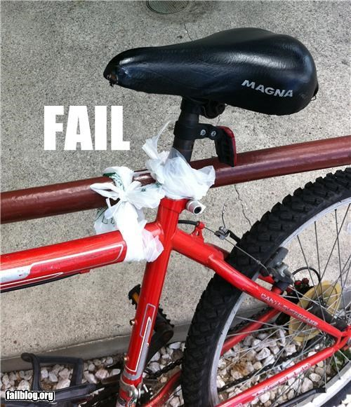 bicycle,bike,failboat,g rated,security,stupidity