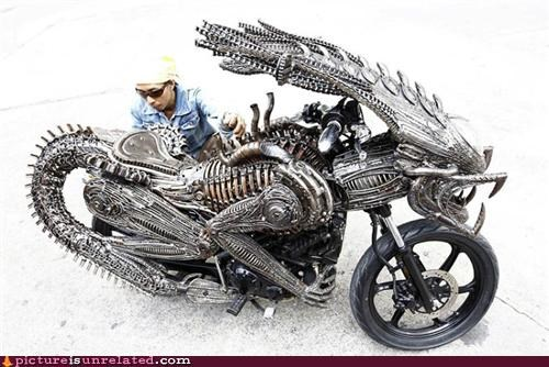 alien motorcycle wtf - 5135941632