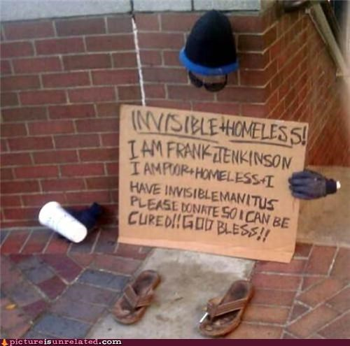 clever homeless invisible wtf - 5136064256