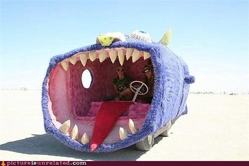 car monster teeth wtf - 5136071936