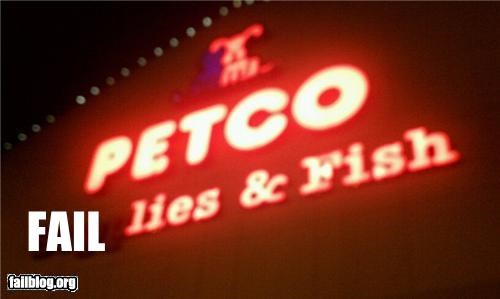 failboat g rated missing letters petco signs - 5136291840