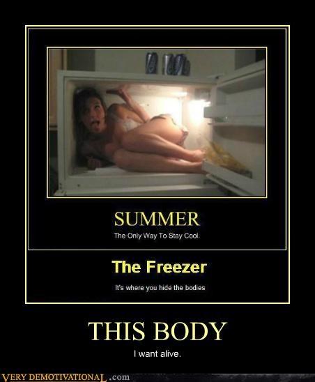 babe freezer good idea hilarious summer tunnel want - 5136420352