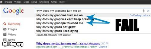 Autocomplete Me failboat geriatric innuendo wtf