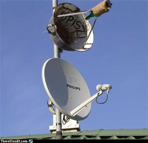 bottle copycat satellite dish technology