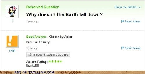 best of week,earth,fall,fly,Yahoo Answer Fails
