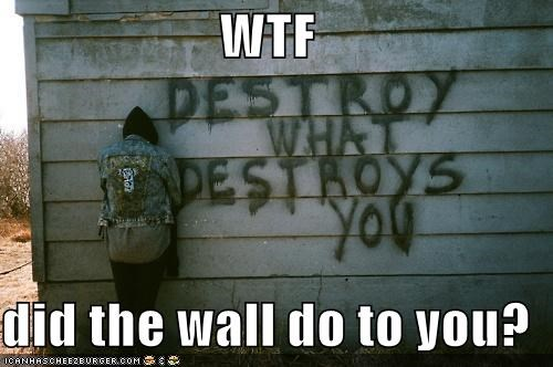 destroy emolulz Sad wall