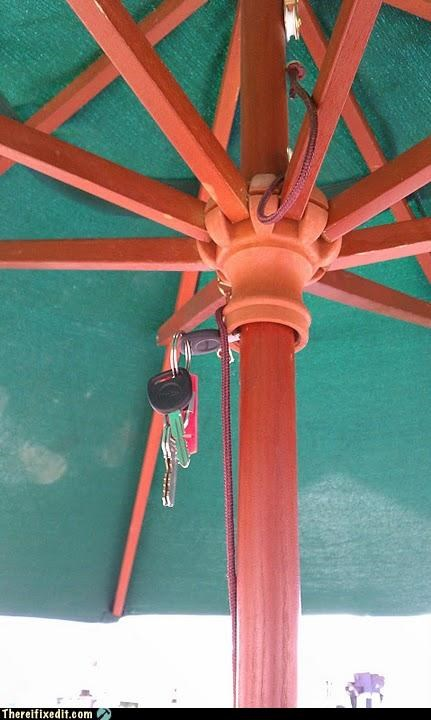 dual use holding it up keys umbrella - 5138155520