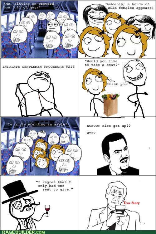 bus chivalry ladies sir Rage Comics true story - 5138493696