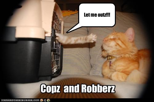 Let me outz!!! Copz and Robberz