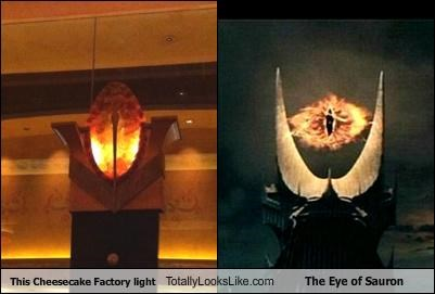 Eye of Sauron funny light Lord of the Rings TLL