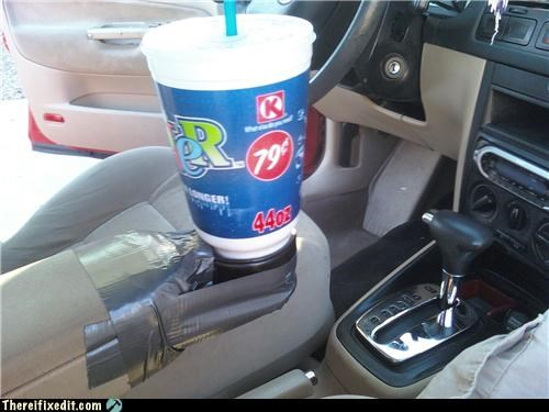 AMERRICA,cars,cup holder,duct tape