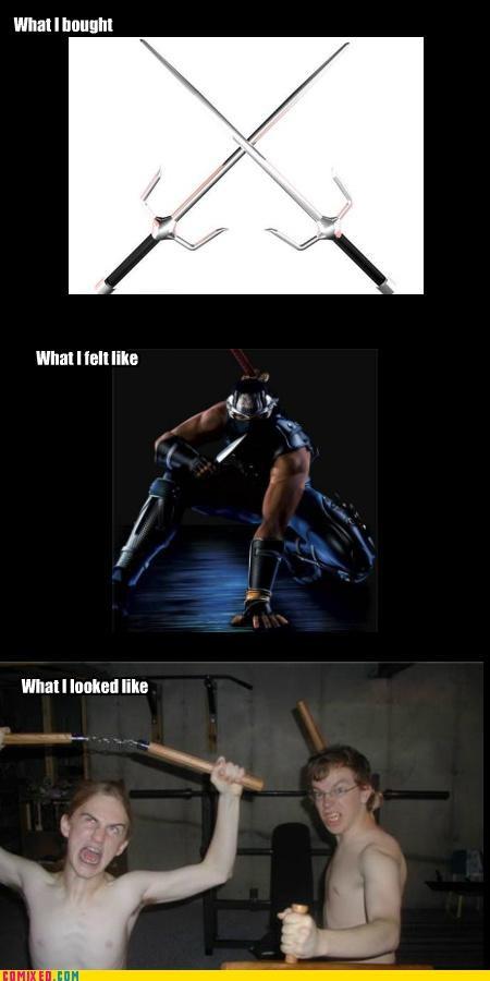 but then i ninja gaiden nunchaku sai what i looked like - 5139561728