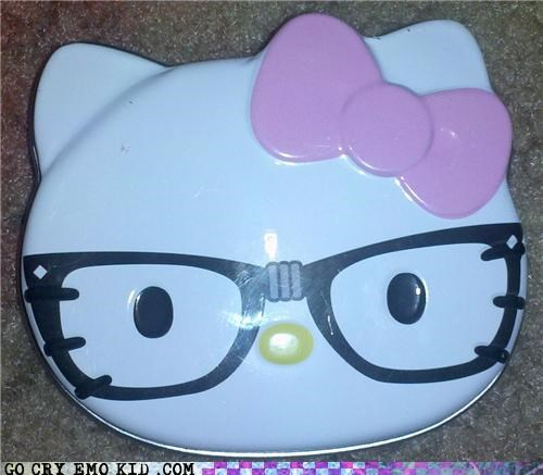 glasses,hello kitty,Hipster Kitty,Memes