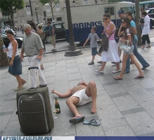 beer,nothing to see here,passed out,sidewalk,underpants
