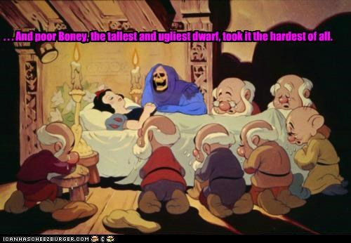 disney dwarfs he man roflrazzi skeletor snow white ugly upset