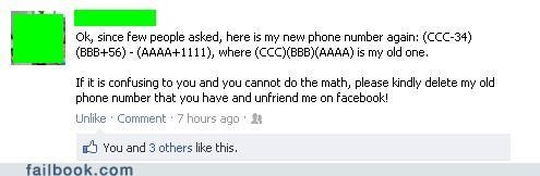 math number phone number unfriend