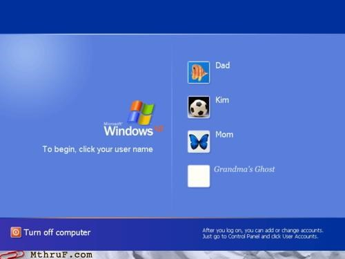 account,dead,family,relatives,windows,windows xp