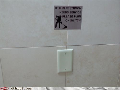 bathroom,janitor,restroom,sign,switch
