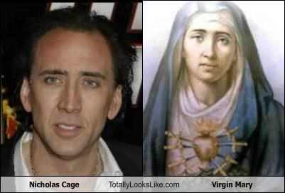 Virgin Mary Totally Looks Like Nicholas Cage