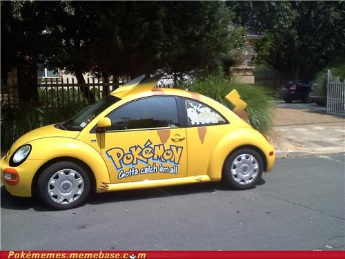 awesome,car,IRL,pikachu,pokecar