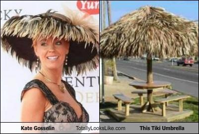 fashion decision Hall of Fame hat jon and kate kate gosselin tiki umbrella ugly hat - 5142333952