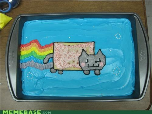 after,before,cake,food,IRL,Nyan Cat