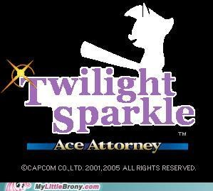 Ace Attorney crossover objection phoenix wright twilight sparkle - 5142594816