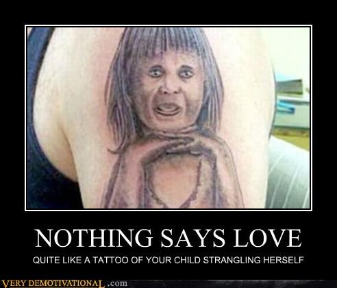 children idiots lol tattoo ugly - 5142876416