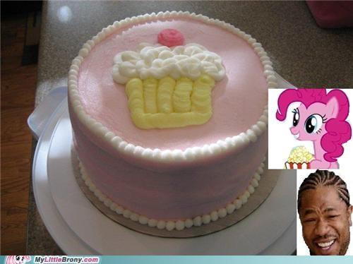 cake in a cake cupcake meme pinkie pie xhibit yo dawg - 5142909440