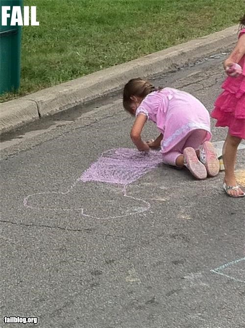 art chalk drawing failboat not for kids p33n wtf - 5143209984