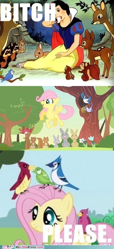 animals,caring,fluttershy,snow white