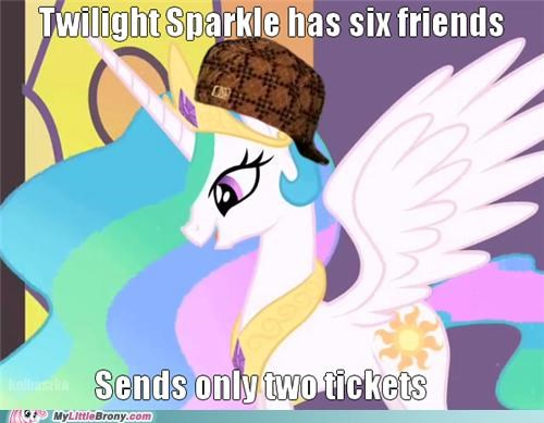 celestia in the end it works out meme scumbag tickets - 5143780352