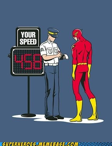 Awesome Art speed the flash ticket