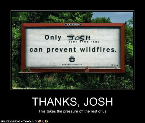 THANKS, JOSH This takes the pressure off the rest of us