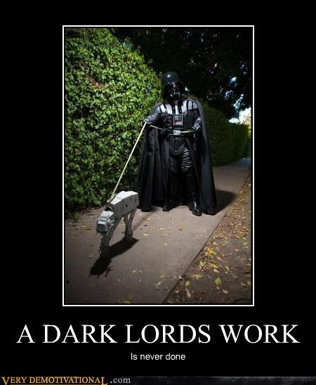 at at,darth vader,Hall of Fame,hilarious,sith,star wars,walking the dog