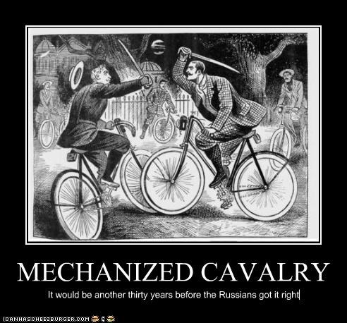 MECHANIZED CAVALRY It would be another thirty years before the Russians got it right