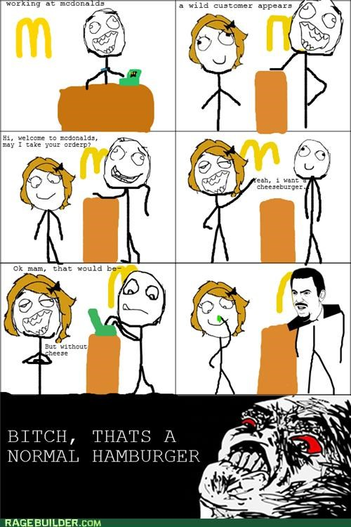 cheeseburger food hamburger Rage Comics wtf - 5144651776