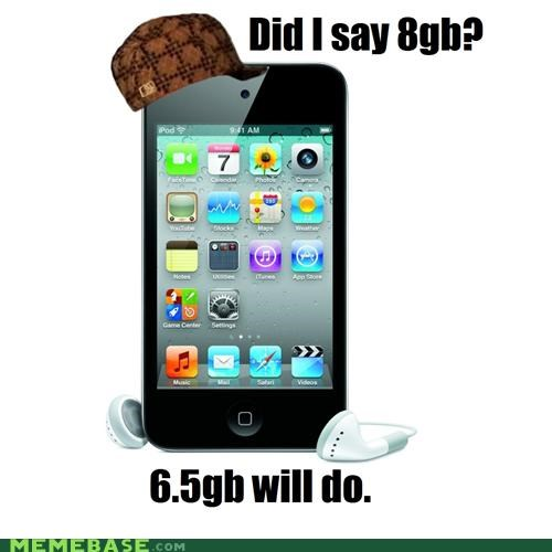 6.5 8gb apple gigabytes ipod Memes - 5144730368