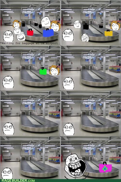 airport forever alone luggage Rage Comics - 5144782848
