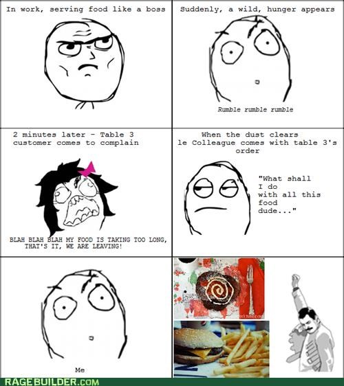 food freddie free Rage Comics restaurant waiter - 5144819968