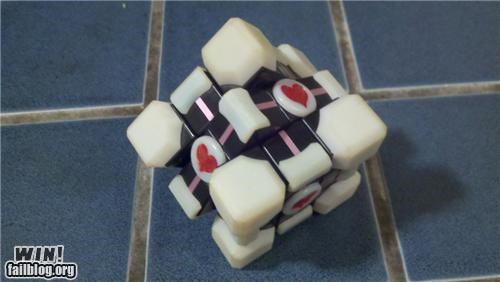 companion cube,nerdgasm,Portal,rubiks cube,valve