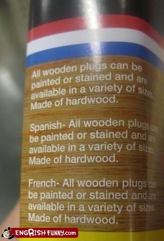 carpentry engrish handy language multilingual not quite Engrish
