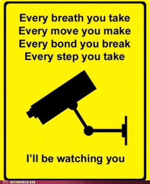 creeper every breath you take sign stalking sting surveillance the police We Are Dating