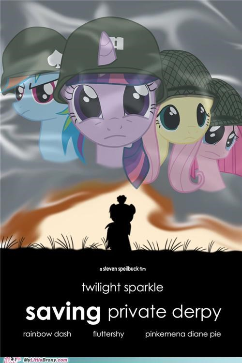 best of week,crossover,derpy hooves,Movie,saving private ryan,steven spielberg
