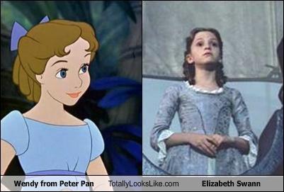 disney elizabeth swann funny peter pan TLL wendy