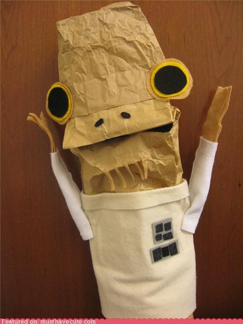 ackbar admiral art craft DIY paper bag puppet star wars - 5145265408