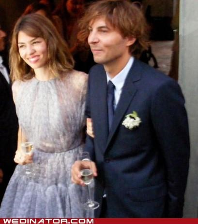 celeb funny wedding photos sofia coppola thomas mars