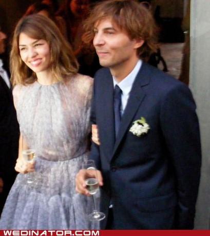 celeb funny wedding photos sofia coppola thomas mars - 5145304064